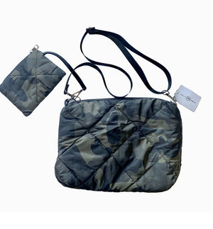 Quilted Camo Crossbody