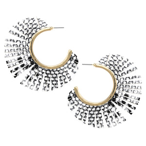 Peacock Fringe Hoops