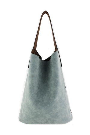 HOBO BAG W/ CONTRAST HANDLE