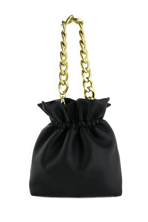 BUCKET BAG W/ RESIN CHAIN HANDLE