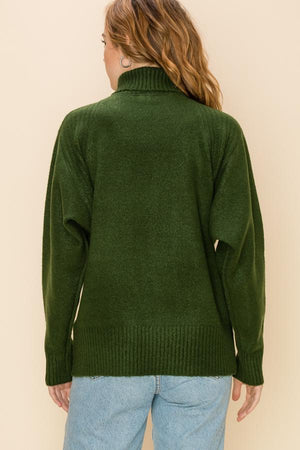 Loose Fit Turtleneck Sweater