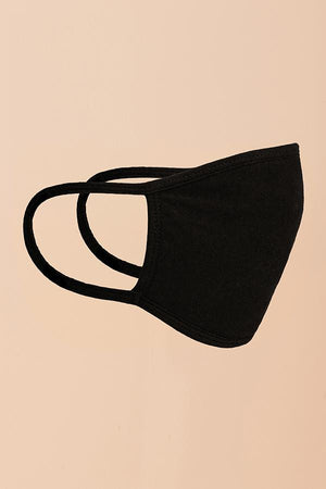 Basic Black Fashion Mask (Washable)