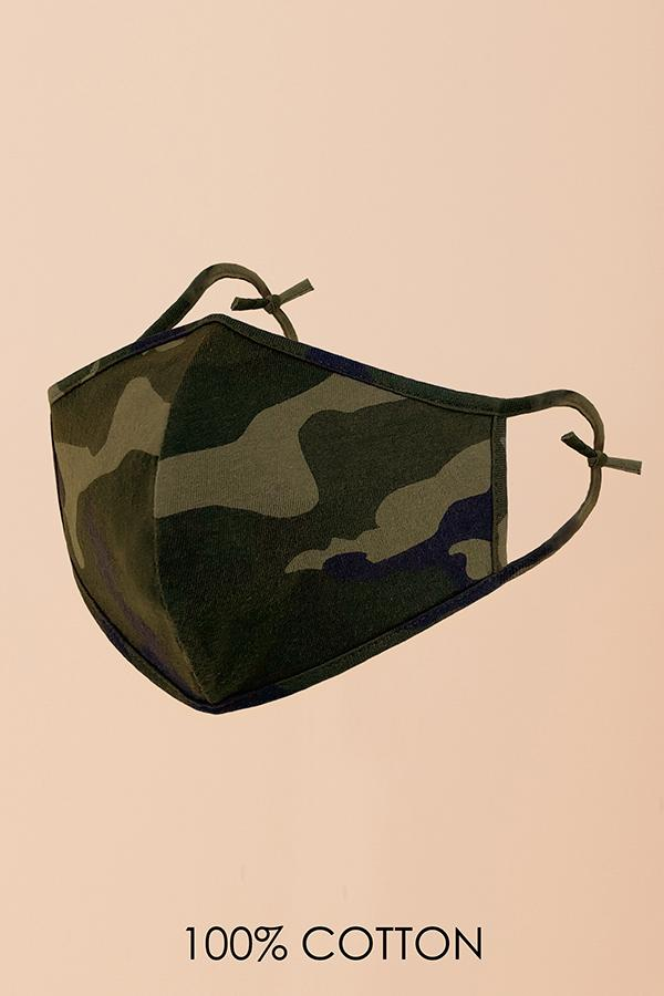 Olive Camo Fashion Mask (Washable)