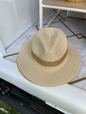 Gold Trim Fedora