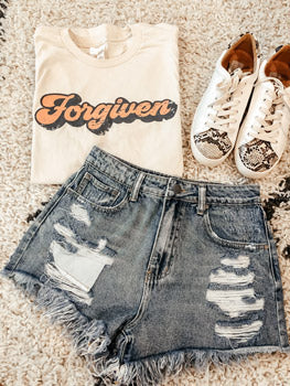 forgiven shirt shorts and shoes