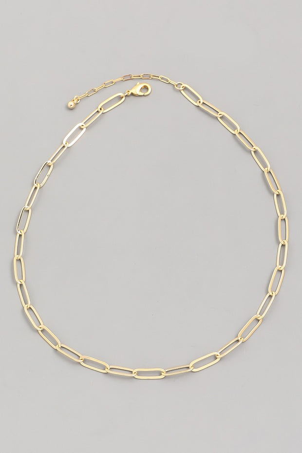 Oval Chain Cable Necklace - Shop Amour Boutique Online
