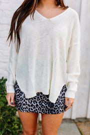 Tried & True Knit Sweater: Cream - Shop Amour Boutique Online