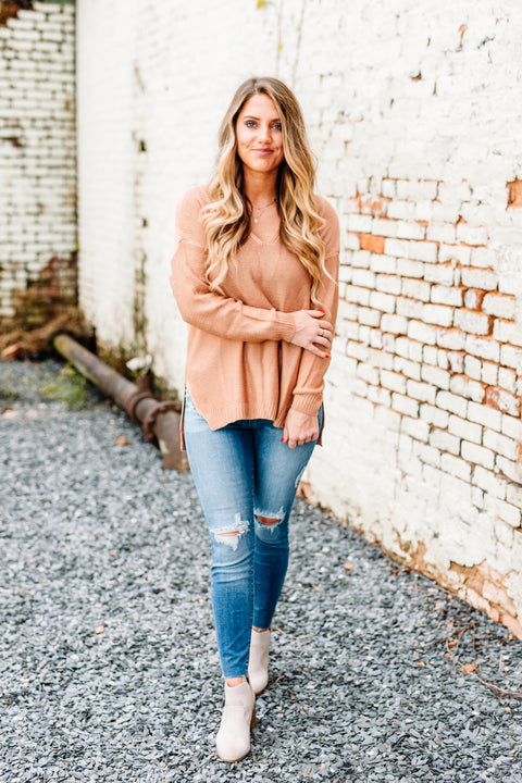 Tried & True Knit Sweater: French Rose - Shop Amour Boutique Online