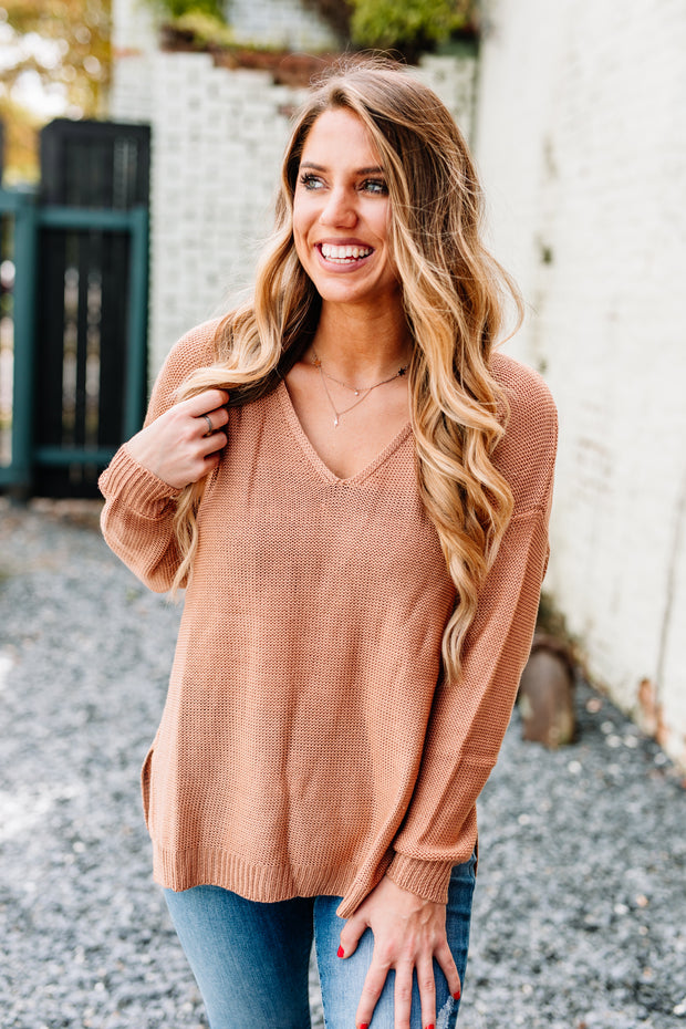 Tried & True Knit Sweater: French Rose - Shop Women dresses, Women essentials, tops, bottoms, shoes & more..