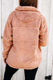 Cozy and Soft Sherpa Pullover: Egg Shell - Shop Women dresses, Women essentials, tops, bottoms, shoes & more..