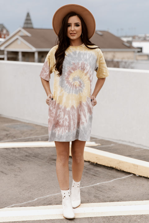 Good Vibes Only T-shirt Dress - Shop Amour Boutique Online
