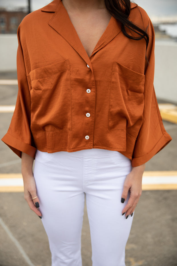 Cute as a Button Top - Shop Amour Boutique Online