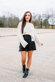 Made for you Sweater: Cream - Shop Amour Boutique Online