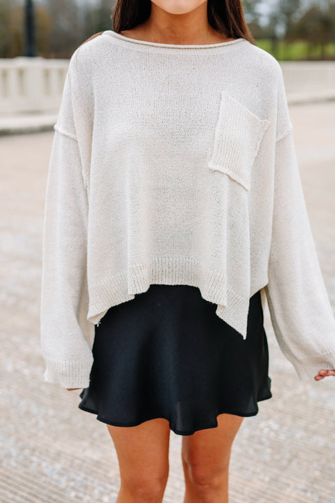 Made for you Sweater: Cream