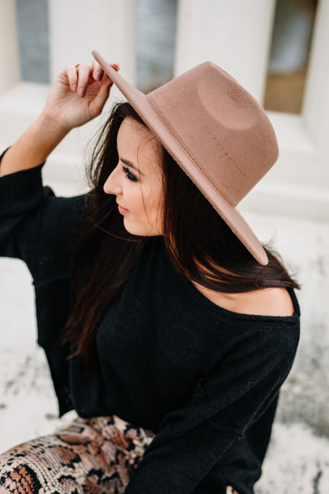 Solid Tan Hat:Mocha - Shop Amour Boutique Online