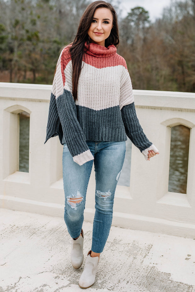 Color Block Party Sweater