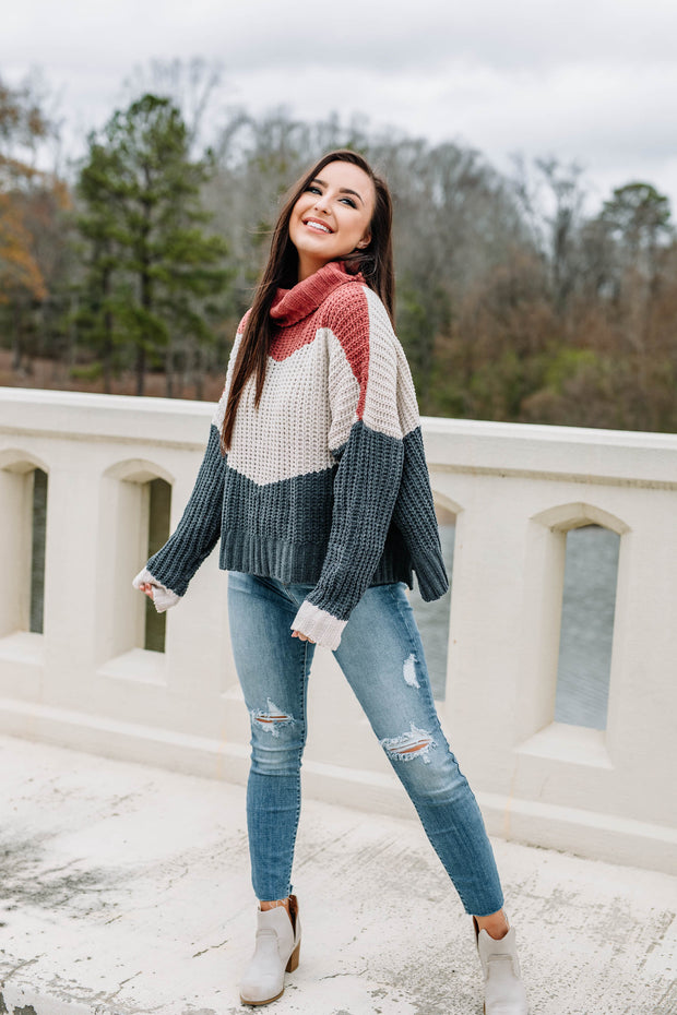 Color Block Party Sweater - Shop Amour Boutique Online