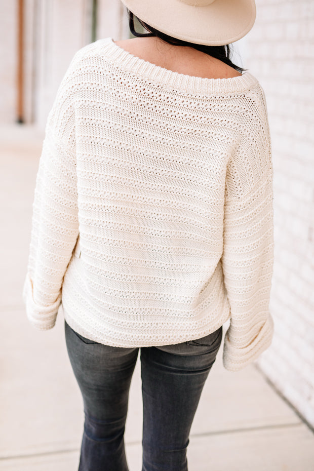 Everything I wanted Cream Sweater - Shop Amour Boutique Online