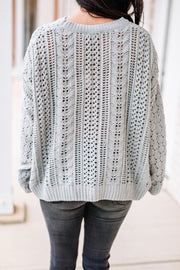 Too Good Cable Knit Sweater - Shop Amour Boutique Online