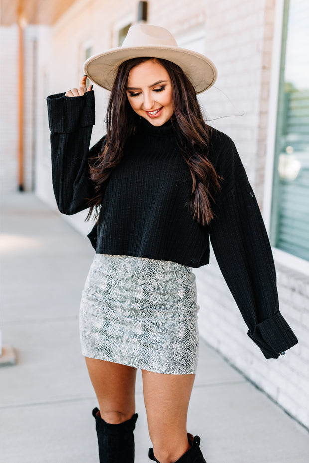 Crazy in Love Snake Print Skirt: Stone - Shop Amour Boutique Online