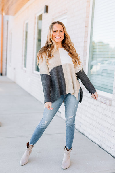 Happy Days Color Block Sweater - Shop Amour Boutique Online