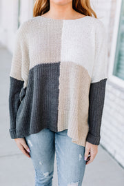 Happy Days Color Block Sweater