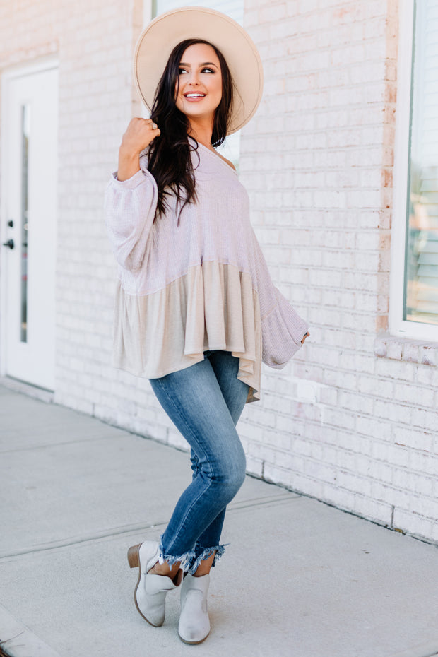 Anything but Basic Waffle Top: Natural - Shop Amour Boutique Online