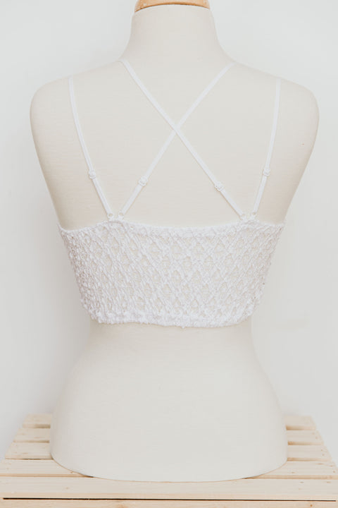 Lace Bralette: White - Shop Amour Boutique Online