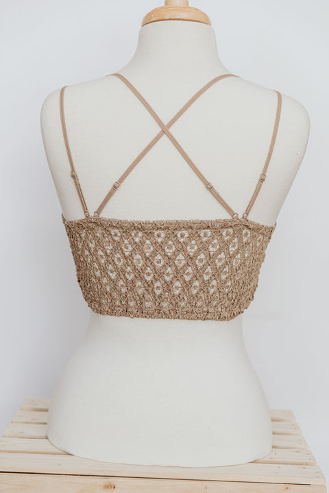 Lace Bralette: Cocoa - Shop Amour Boutique Online