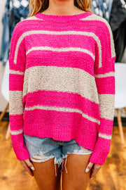 Springin' Forward Stripe Sweater - Shop Amour Boutique Online