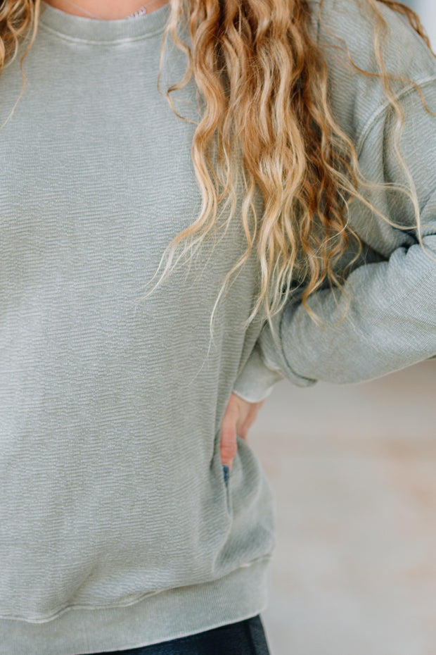 Mineral Washed Comfy Pullover