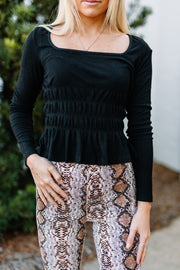 In a Pinch Black Top - Shop Amour Boutique Online