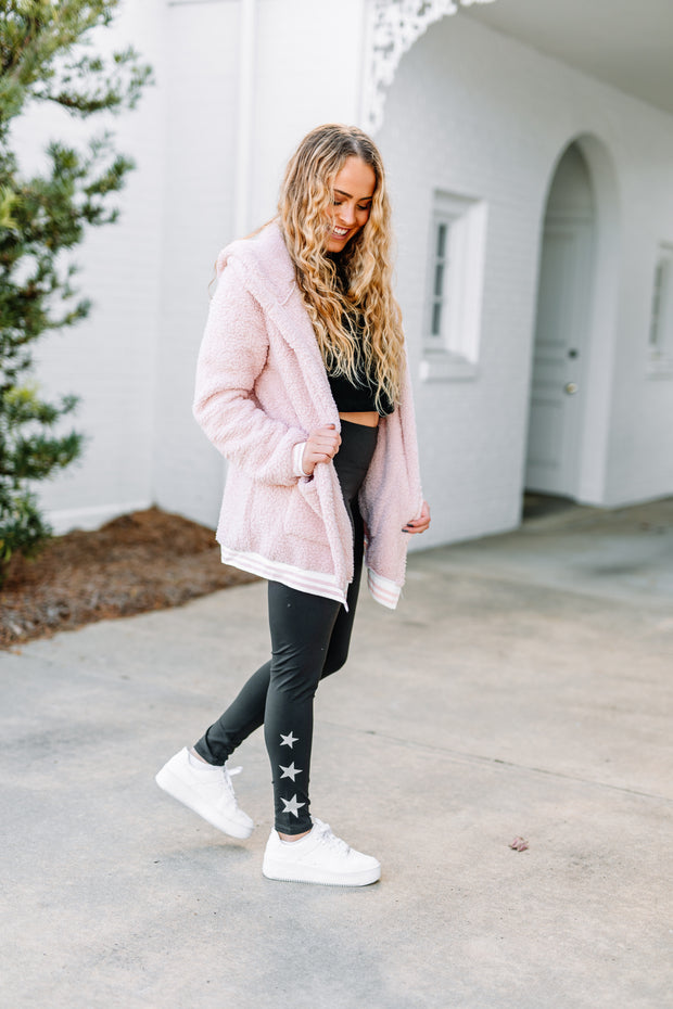Tell Me Why Blush Pink Hooded Jacket