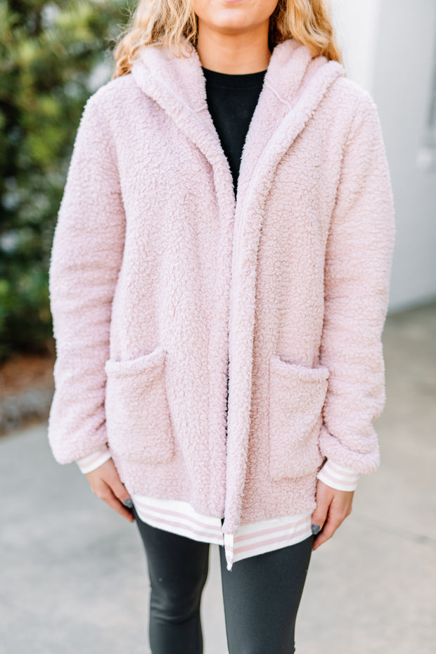 Tell Me Why Blush Pink Hooded Jacket - Shop Amour Boutique Online