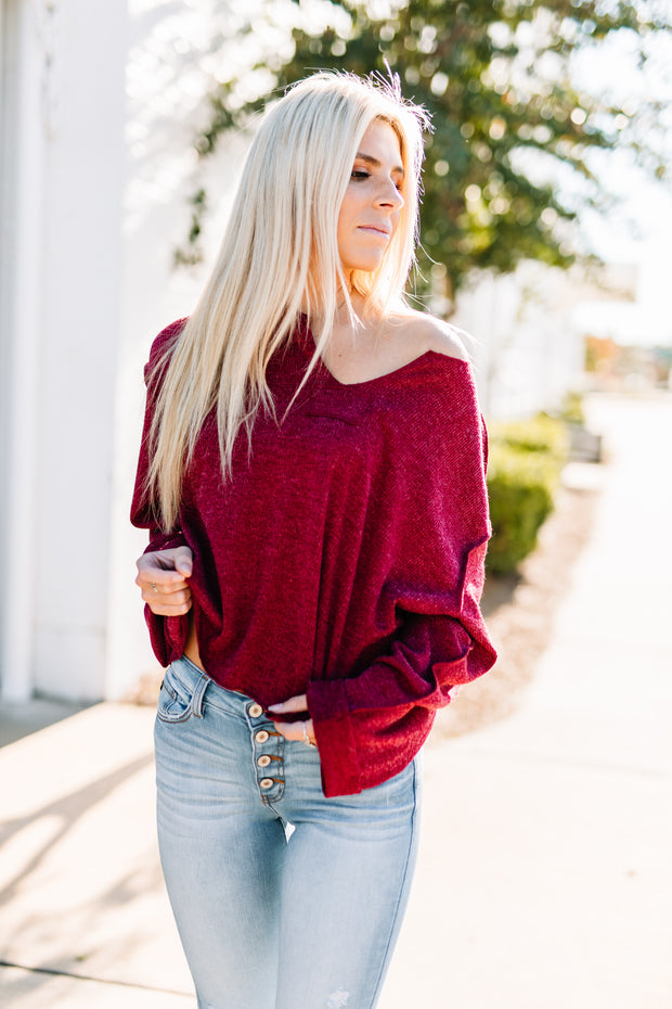 Casual Day Top: Wine