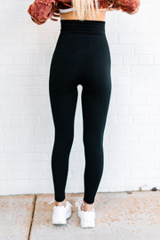 High Waist Fleece Lined Leggings - Shop Amour Boutique Online