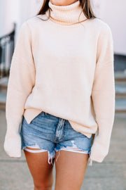 Oversized Turtleneck Pullover Sweater