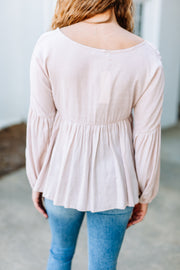 Sweet Dreams Top: Taupe