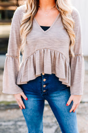Mocha Please Top - Shop Amour Boutique Online