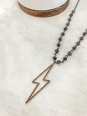 Lightning Frame Bead Choker - Shop Amour Boutique Online