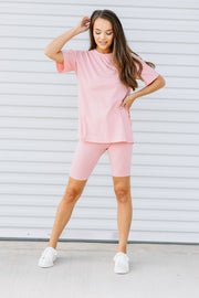 All the Comfort Biker Set: Pink - Shop Amour Boutique Online