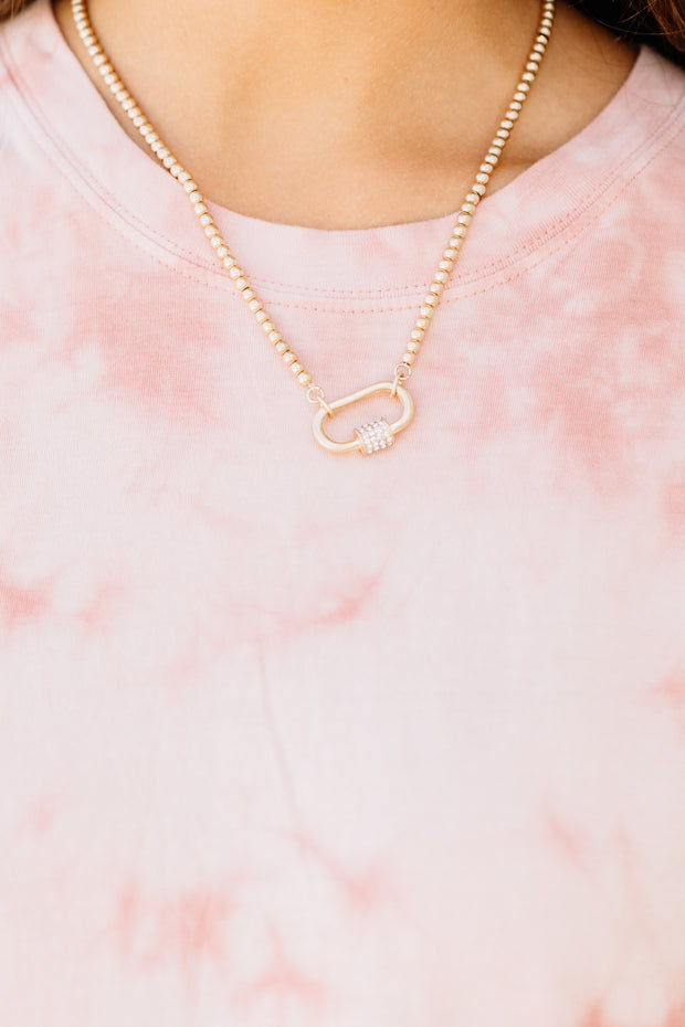 Lock Link Necklace - Shop Amour Boutique Online