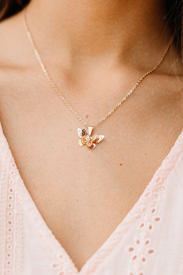 Butterfly Kisses Necklace - Shop Amour Boutique Online