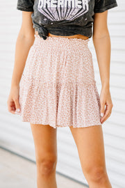 Leopard Dreamin' Blush Skirt - Shop Amour Boutique Online