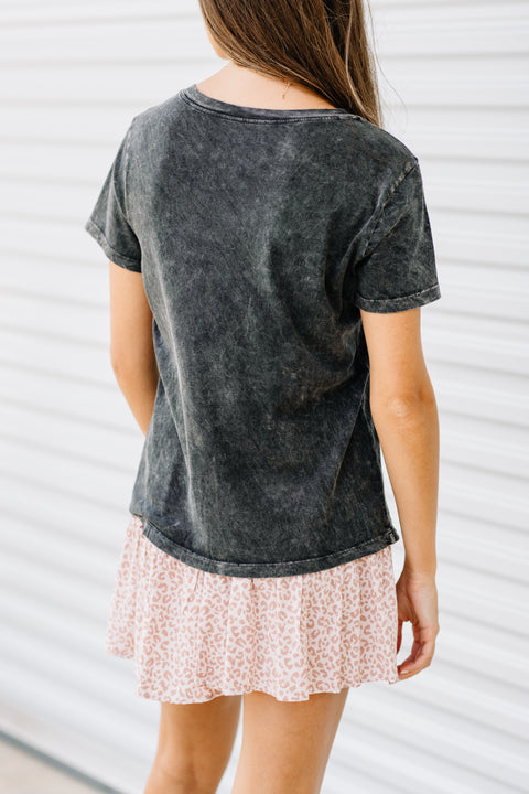 Dreamer Mineral Washed Vintage Graphic Tee - Shop Amour Boutique Online