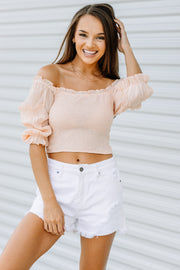 Blushing for You Smocked Top - Shop Amour Boutique Online