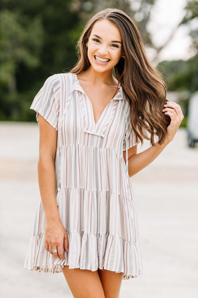 Stripe a Pose Dress - Shop Amour Boutique Online