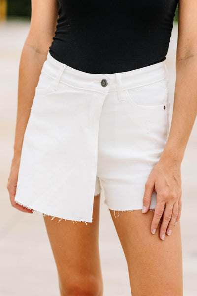White Denim Skort - Shop Amour Boutique Online