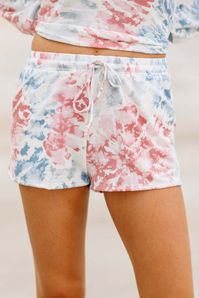 Time to Relax Tie Dye Shorts - Shop Amour Boutique Online