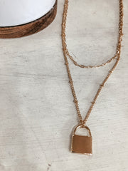 Lock Layer Necklace